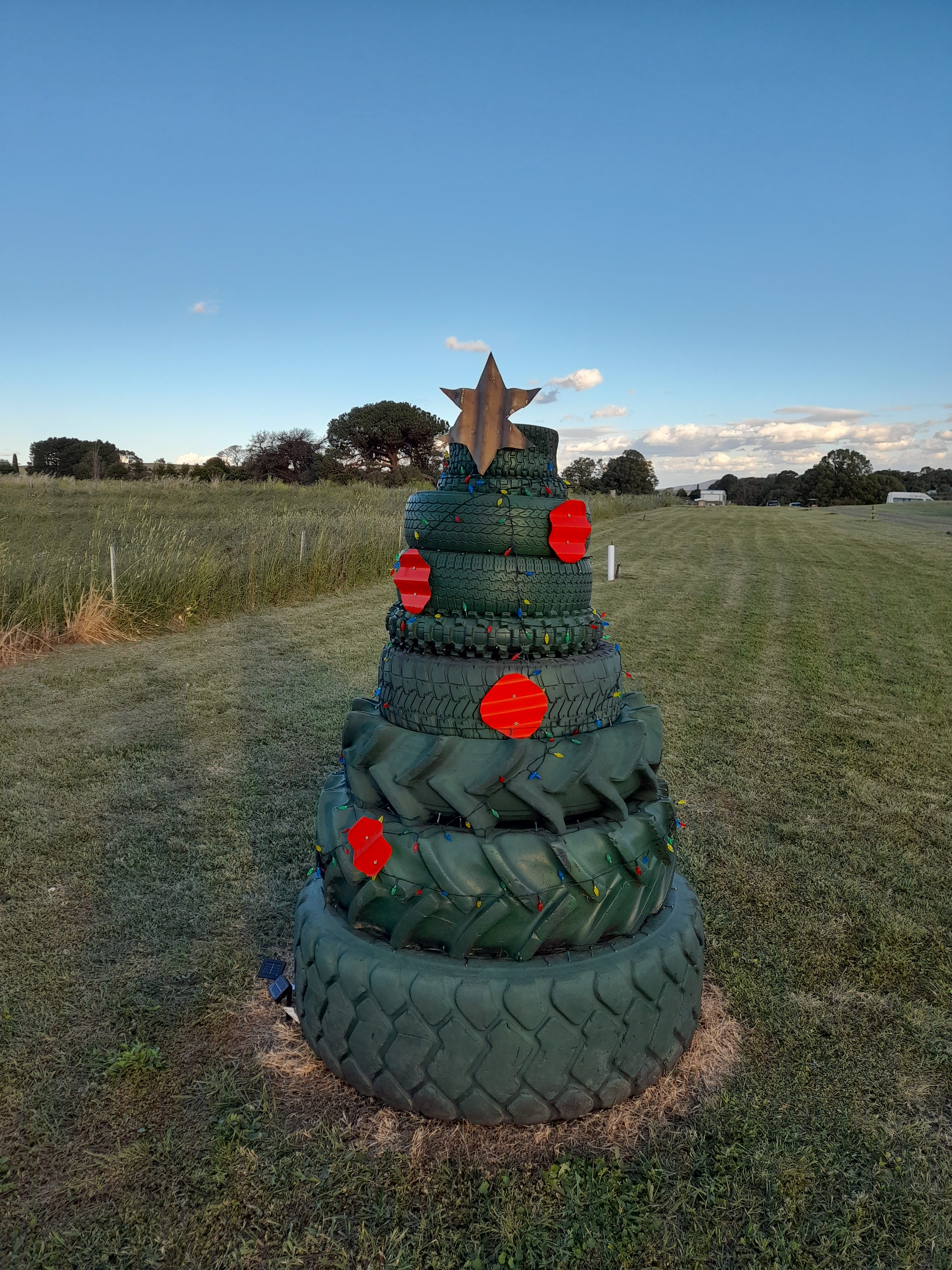 Old Tyres Christmas Tree